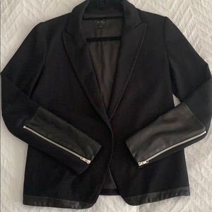 Theory Wool and Leather Blazer